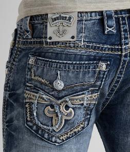 New Men's Rock Revival Slim Bootcut Jeans Scion 27 28 29