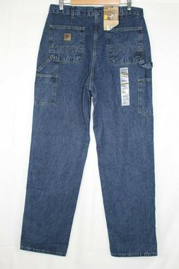 New Carhartt Men's Washed Denim Work Dungaree Size 36 x 36 D