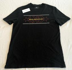 New Mens Calvin Klein Jeans Black Logo Crew Neck T-Shirt. Si