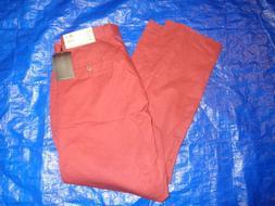 NEW Mens brick 40 x 30  PANTS BY Haggar 100% cotton fast shi