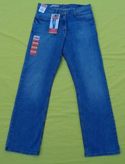 NEW Mens Wrangler Relaxed Fit Boot Cut Flex Denim Blue Jeans