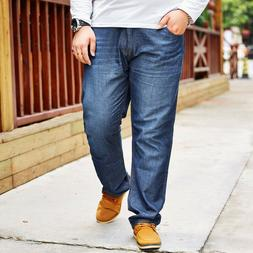 New Mens Stretch Jeans Plus Size Pants Big Tall Trousers 40-
