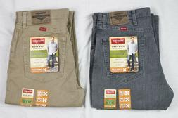 New Wrangler Regular Fit Jeans with Flex Men's Sizes Two Col