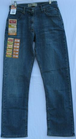 NEW !! Wrangler relaxed fit cotton/spandex 4-way flex jeans