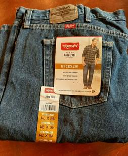New Wrangler Relaxed Fit Jeans Men's Big and Tall Sizes 46 x