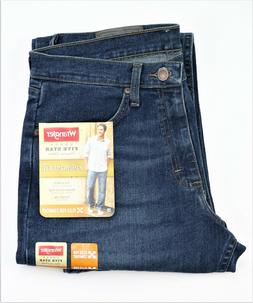 New Wrangler Relaxed Fit Jeans with Flex Dark Denim Color Me