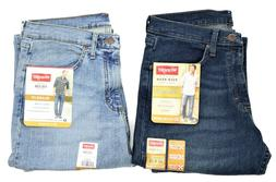 New Wrangler Relaxed Fit Jeans with Flex Dark Denim and Blea