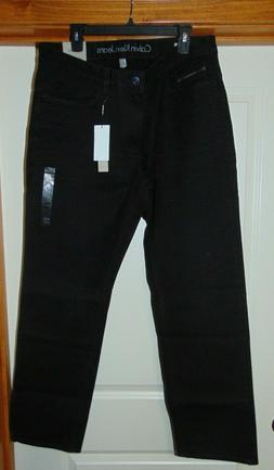 NEW CALVIN KLEIN SLIM STRAIGHT LEG BLACK Jeans Men's 36 X 32