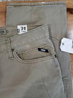 NEW VANS SLIMBO 5 pocket JEANS - MEN'S 34 X 32 Beige  L01