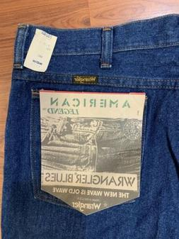 NEW VINTAGE 80s Wrangler USA Made American Legend Blues Jean