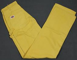 NEW VINTAGE Dickies USA Made Painter Jeans Yellow Mens 28x34