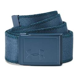Under Armour Men's Novelty Webbing Belt, Techno Teal /Static