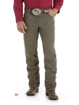 NWD Mens WRANGLER  Premium Regular Fit Cowboy Cut Khaki Boot