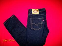 NWOT  DARK   LEVI'S   511   SKINNY    STRETCH  jeans     33