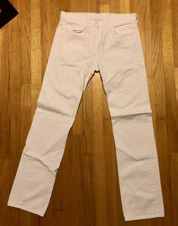 NWOT 7 for all Mankind men's jeans white standard fit 32