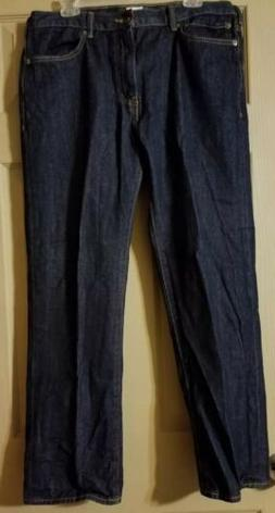 NWOT Mens Dockers Straight Fit Jeans 36×30 Dark Rinse