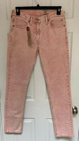 💥NWT $70 Mens Levi's 511 Jeans PINK Pants Slim Fit Stretc