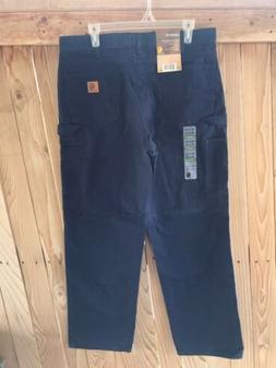 NWT CARHARTT Canvas Carpenter Jeans Men's Loose Fit navy blu