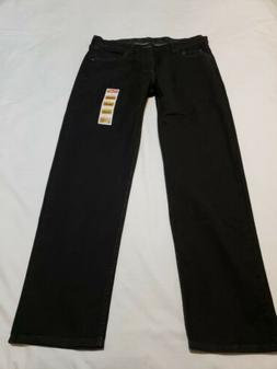 1fbad7b2 NWT WRANGLER Comfort Flex Waistband Relaxed Fit Black Jeans