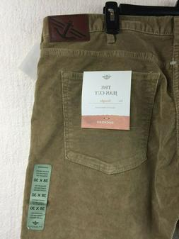 NWT Dockers Corduroy 5 Pocket Straight British Khaki Men's J