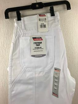 NWT Genuine Dickies Men's Relaxed Fit Straight Leg White Pai