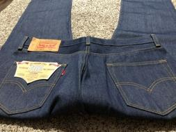 NWT LEVI'S 501 STRAIGHT BUTTON FLY RAW NEW DESIGNER MEN'S JE
