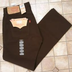 NWT Levi's Brown Jeans Men's 501 Original Fit 34 x 30 $69.50
