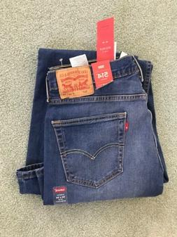 NWT LEVI'S Men 514 MED. BLUE STRAIGHT 2-WAY STRETCH JEANS 34