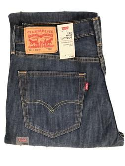 NWT Levi's 527 Slim Boot Cut Men's Andi-Dark Wash Jeans