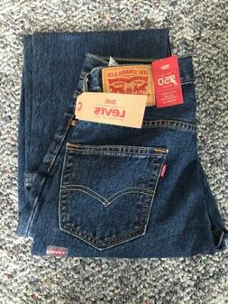 NWT Levi's Mens 550 Relaxed Fit Darker Stonewash - Sits at
