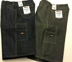 "NWT Dickies Men Denim Jean Shorts Work Loose Fit 15"" 7 Pocke"