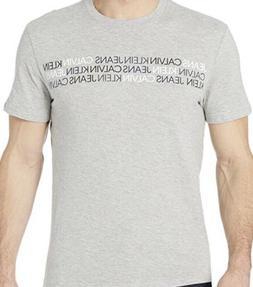 NWT Calvin Klein Jeans Men's Crew-Neck T-Shirt Tri-Color Log