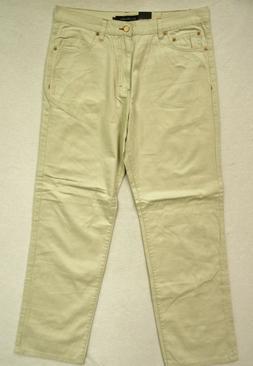 CALVIN KLEIN~NWT!!~MEN'S KHAKI 100% COTTON STRAIGHT LEG RELA