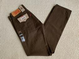 NWT Men's Levi's 501 Original Fit Brown Denim Straight Leg J