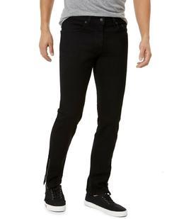 NWT Men's Levi's 511 Slim Stylo Black Side Zipper Stretch De