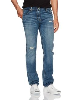 NWT Men's Levi's 511 Slim Fit Biscuits Wash Blue Distressed