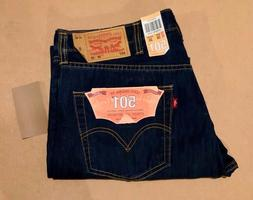 NWT Men's Levi's Jeans 501 Red Tab 38x30 Med Wash Blue Strai
