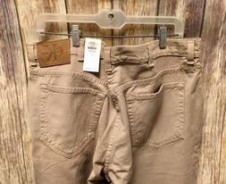 NWT! Calvin Klein Men's Relaxed Fit Zip Fly Jeans Khaki Cott