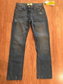 NWT!! Men's Adidas Straight Leg Jeans Sz 30 Inseam 33 Distre