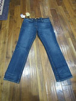 NWT Seven7 Mens 4 Way Stretch Straight Jeans-Brown Tint-36x3