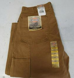 NWT MENS DICKIES CARPENTER JEANS PANTS RELAXED BROWN 36 X 34
