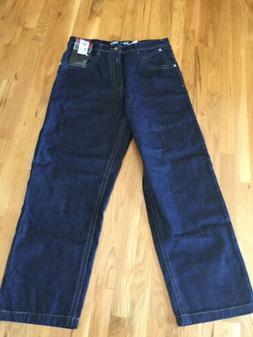 NWT Mens Southpole Jeans Baggy Raw Indigo 36x32