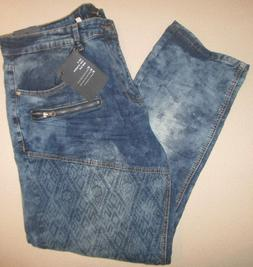 NWT Agile mens jeans blue distressed washed look size 40 X 3