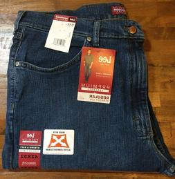 NWT MENS Lee Jeans Size 42x32 Premium Select Regular Fit MSR