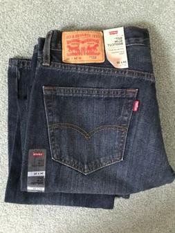 "NWT Mens Levi's 527 Slim Bootcut Jeans 34""x32"" Dark Wash"