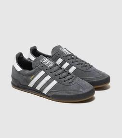 adidas Originals Jeans Mens Trainers Grey / White Suede Leat
