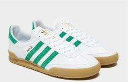 Adidas Originals Jeans - White & Green With Gum Sole - Men's