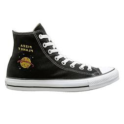 Shenigon Pizza Planet Canvas Shoes High Top Casual Black Sne