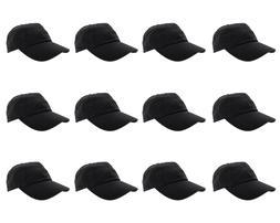 Gelante Plain Blank Cotton Baseball Cap Hat Solid Adjustable