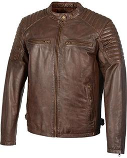 Milwaukee Leather Men's Quilted Shoulders Snap Collar Jacket